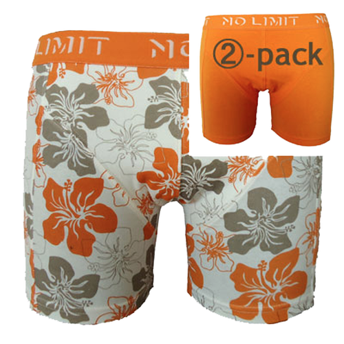 Boxershorts orange - blomster (1)